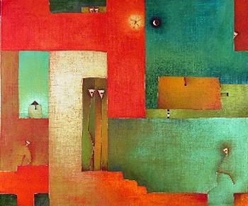 Antonia Guzmán<br>AQUELLOS DOS<br>120 x 100 cm<br>Mayo 2006