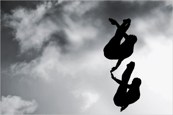 [Photo: Paolo Pellegrin/Magnum Photos] Swifter, Higher and All That David Boudia, Thomas Finchum Synchronized Platform Diving, United States 2007 Pan American Games Gold Medalists.