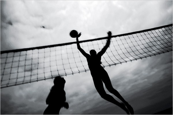 [Photo: Paolo Pellegrin/Magnum Photos] Swifter, Higher and All That Misty May-Treanor, Kerri Walsh Beach Volleyball, United States 2004 Olympic Gold Medalists, three-time World Champions.
