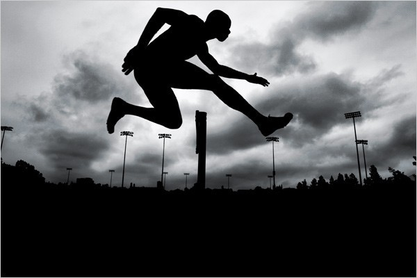 [Photo: Paolo Pellegrin/Magnum Photos] Swifter, Higher and All That Kerron Clement, 400-Meter Hurdles, United States 2007 World Champion.