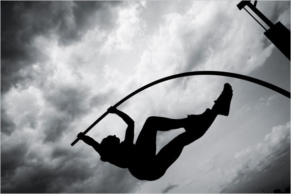 [Photo: Paolo Pellegrin/Magnum Photos] Swifter, Higher and All That Yelena Isinbayeva Pole Vault, Russia 2004 Olympic Gold Medalist