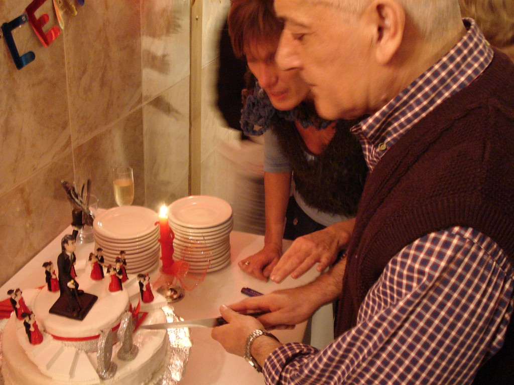 Cumpleaños de Alberto Agüero. Martes 4 julio 2006. [Foto Héctor Maugeri]