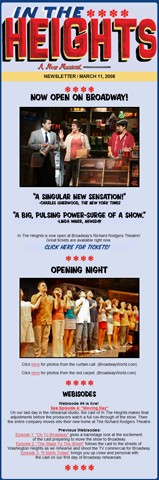 In the Heights Now Open on Broadway