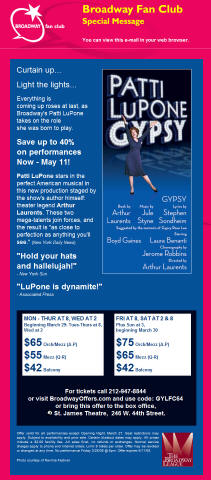 Gypsy at St. James Theatre