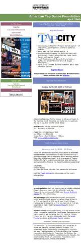 April Tap Happenings (American Tap Dance Foundation)