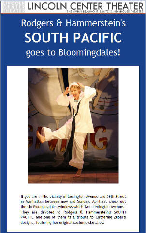 Rodgers & Hammerstein's SOUTH PACIFIC goes to Bloomingdales!