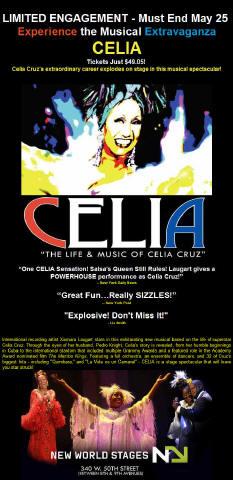 "Celia. ""The Life & Music of Celia Cruz"""