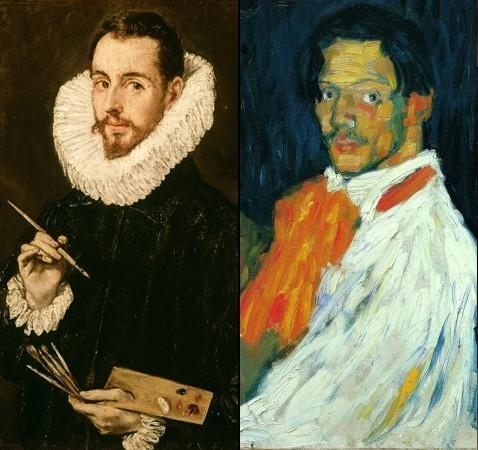 """Portrait d'un artiste, (Jorge Manuel Theotokopoulos) dit """"El Greco"""" et Yo, Picasso , pablo Picasso succession Picasso, 2008"""