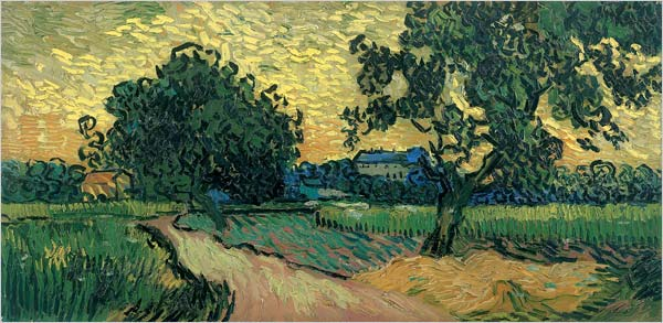 "[Photo: Van Gogh Museum, Amsterdam] Vincent van Gogh ""Landscape at Twilight"" (1890)"