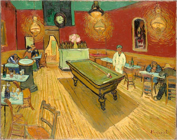 "[Photo: Yale University Art Gallery] Vincent van Gogh (1853-1890) ""Night Cafe"" (1888)"