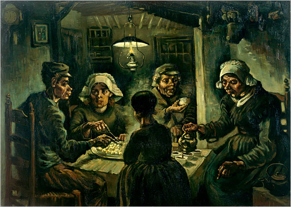 "[Photo: Van Gogh Museum, Amsterdam] ""The Potato Eaters,"""