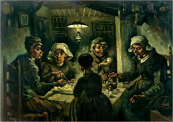 "[Photo: Van Gogh Museum, Amsterdam]""The Potato Eaters,"""