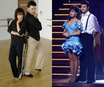 """[ABC]Marie Osmond passes out/ Marie dropped some serious poundage on """"Dancing With the Stars,"""" but her diet and exercise regimen may have been too rigorous: she passed out during judging./ In response to speculations about the incident, Marie told ExtraTV, """"First of all, I can't be anorexic. I like food too much… I'm not on diet pills. And I have to tell you, honestly, with NutriSystem you eat all the time.""""/ Like Joey Fatone, Marie used Nutrisystem in conjunction with her dancing training."""