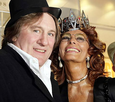 [AP/EFE, Cristobal Garcia]Carnival funActors Sophia Loren and Gerard Depardieu are in party mode on the Spanish Canary Island of Tenerife on Jan. 29, where Loren is part of a jury to elect the local Queen of the carnival.
