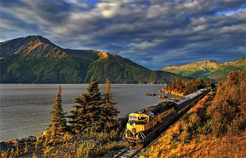 [Alaska Railroad Corp.] The Alaska Railroad takes riders into the far reaches of the 49th state, connecting Seward, Anchorage, Denali National Park and Fairbanks, with other stops in between.