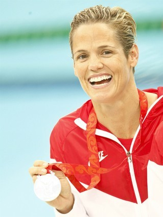 """[Credit: Natacha Pisarenko /Associated Press] The Olympics as entertainment BEST: Not-yet-over-the-hill Olympians / Forty-one-year-old Dara Torres led the women's 4x100-meter freestyle relay to a silver medal finish. She's the oldest woman ever to make the U.S. Olympic swim team. """"The water doesn't know what age you are when you jump in,"""" Torres told NBC's Matt Lauer last month. """"So why not?"""" For the record, 56-year-old competitive shooter Elizabeth """"Libby"""" Callahan might be the oldest U.S. Olympian at this year's Games, but she's also the country's top-ranked in her events."""