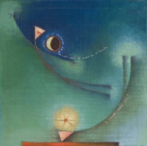 Antonia Guzmán<br>La esperanza (Hope)<br>2009<br>Acrylic on canvas h: 15.8 x w: 15.8 in<br>h: 40.1 x w: 40.1 cm
