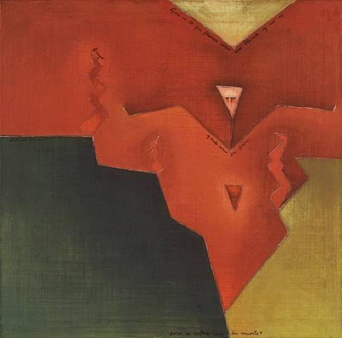 Antonia Guzmán<br>La sangre (Blood)<br>2009<br>Acrylic on canvas h: 15.8 x w: 15.8 in<br>h: 40.1 x w: 40.1 cm