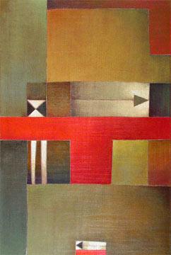 """Antonia Guzmán<br>""""La partida""""<br>2006<br>acrylic on canvas<br>36 x 24"""