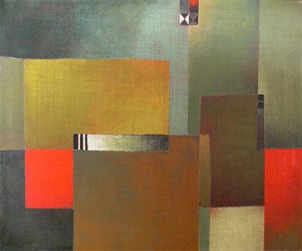 """Antonia GuzmánEl instante2005acrylic on canvas28 x 48"""""""