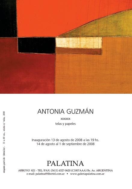 Antonia Guzmán en Galería Palatina, Arroyo 821