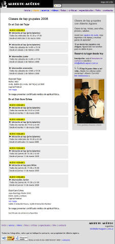Clases de Tap Grupales 2008 (Alberto Agüero)