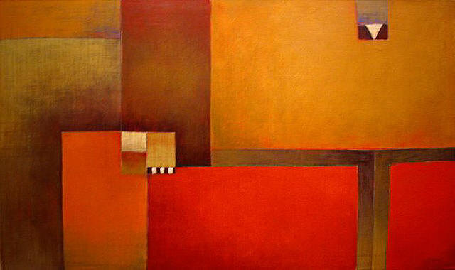 Antonia Guzmán<br>Concise/Escueto<br>2005<br>23 x 39 inches<br>painting, acrylic on canvas
