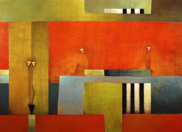 Antonia Guzmán<br>Distances<br>Las Distancias<br>2007<br>40 x 55 inches<br>painting, acrylic on canvas