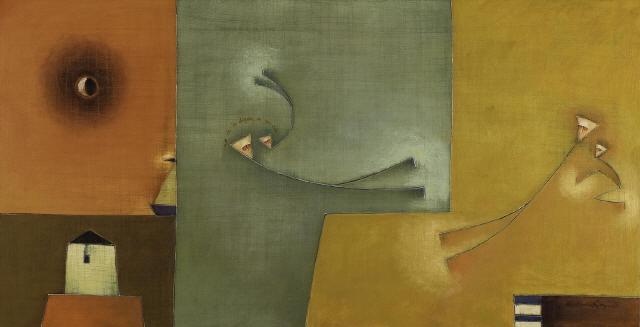 Antonia Guzmán<br>EL CHISMOSO<br>40 x 80 cm