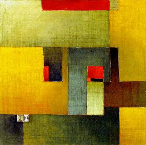 Antonia Guzmán<br>El Escondido<br>2006<br>16 x 16 inches<br>painting, acrylic on canvas