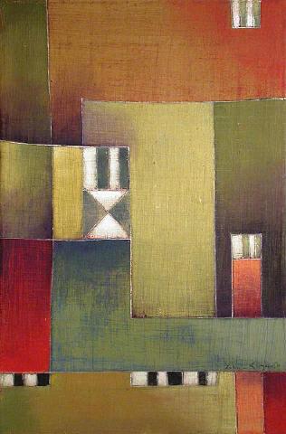 Antonia Guzmán<br>Espectantes<br>2005<br>13 x 9 inches<br>painting, acrylic on canvas