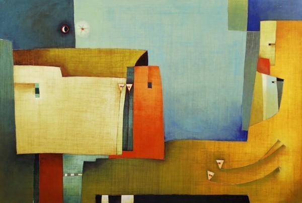 Antonia Guzmán<br>Unos Estan, Otros Viven<br>2007<br>Acrylic on canvas<br>31.5 x 47.2 in