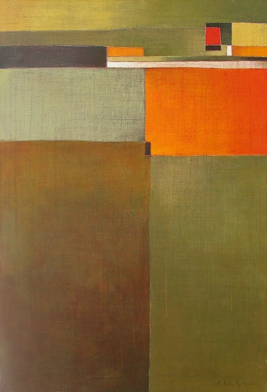 Antonia Guzmán<br>JUSTO AHI<br>Acrílico sobre tela<br>73 x 50 cm<br>Julio 2005
