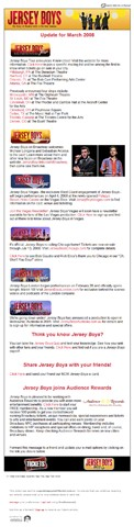 Jersey Boys Newsletter