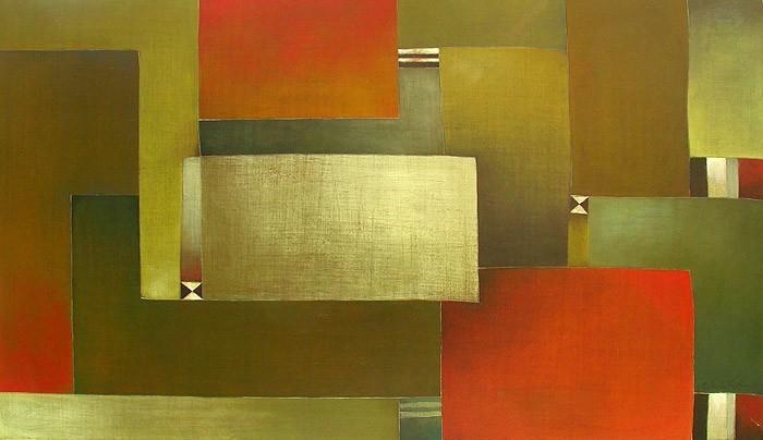 Antonia Guzmán<br>LEJANA CERCANIA<br>Acrílico sobre tela<br>71 x 123 cm<br>Agosto 2005