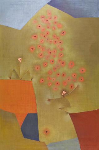 Antonia Guzmán<br>LA OFRENDA<br>120 x 80 cm