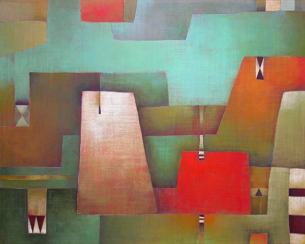 Antonia Guzmán<br>La Blanquita<br>2004<br>47 x 59 inches<br>painting, acrylic on canvas