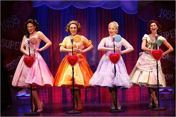 """[Carol Rosegg]The cast of """"The Marvelous Wonderettes,"""" which takes place in 1958 and 1968."""