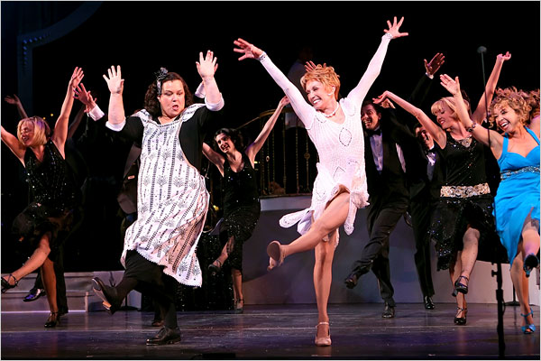 """Sara Krulwich/TheNew York Times/ Rosie O'Donnell, left, and Sandy Duncan in the Encores! presentation of """"No No Nanette"""" at the New York City Center."""