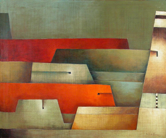 Antonia Guzmán<br>Another Place/Otro Sitio<br>2004<br>39 x 47 inches<br>painting, acrylic on canvas