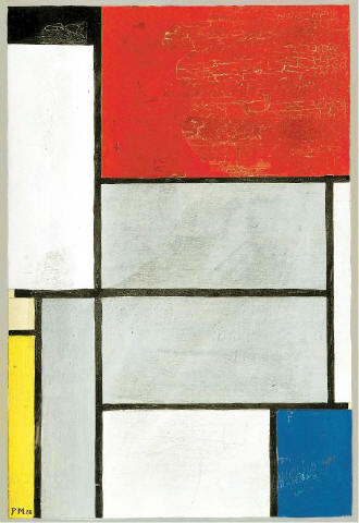 [SOTHEBY'S]SQUARED OFF The prices for work by Piet Mondrian — such as 'Composition with Black, Red, Gray, Yellow and Blue,' which Sotheby's sold in London this month for $2.1 million — vary from sale to sale, but that doesn't always reflect the mood of the art market.
