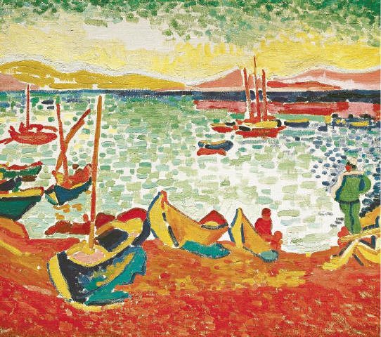 [C H R I ST I E' S I M A G ES C O R B I S] A detail of Andre Derain's 'Boats in the Harbor, Collioure' (1905).