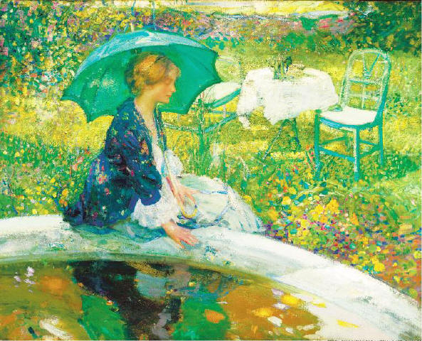 [TERRA FOUNDATION FOR AMERICAN ART, CHICAGO] BY THE POOL The Florence Griswold Museum in Old Lyme, Conn., is hosting the touring exhibit 'Impressionist Giverny: American Painters in France, Selections from the Terra Foundation for American Art.' Richard E. Miller's 'The Pool' (c. 1910), above, is on view. For an article on the exhibit, please turn to the Arts+ Travel section, which begins on page 21.
