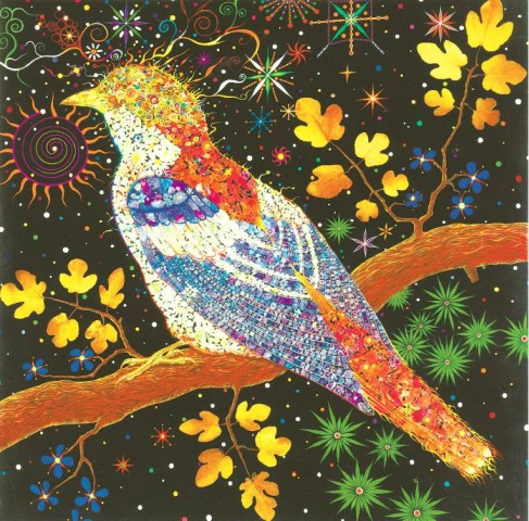 [CHRISTIE'S] MAGIC BIRD At the Christie's sale of Post-War and Contemporary art in London, Fred Tomaselli's 'Big Bird' is estimated to sell for between $300,000 and $390,000.