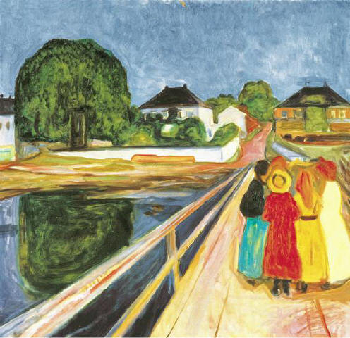 [SOTHEBY'S]BROAD VIEW The Impressionist and Modern Art Sale at Sotheby's last night included Edvard Munch's 'Girls on a Bridge' (1902), which sold for a hammer price of $27.5 million. For more results, please see page 28.