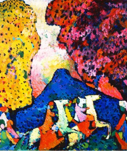 [SOLOMON R. GUGGENHEIM MUSEUM] Vasily Kandinsky (1866–1944) , 'Blue Mountain' (1908–09).