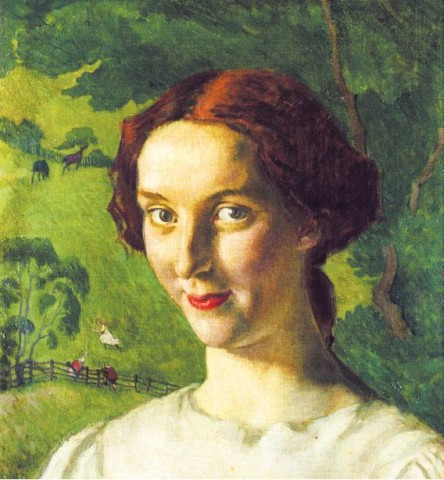 [SOTHEBY'S]Henry Lamb, 'A Breton Shepherdess' (c. 1911).
