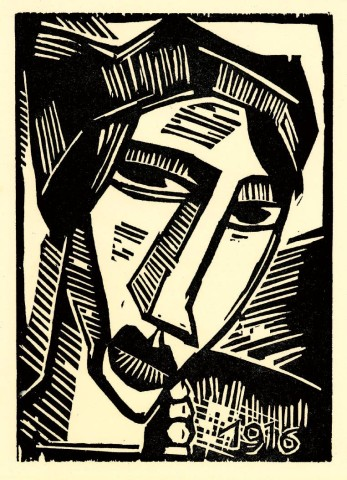 """[F RA N C ES L E H M A N LO E B A RT C E N T E R]ABSTRACTED PASSIONThe Frances Lehman Loeb Art Center at Vassar College in Poughkeepsie, presents """"Impassioned Images: German Expressionist Prints,"""" an exhibit of 50 woodcuts, lithographs, and etchings by German artists of the early 20th century. Expressionists Max Beckmann, Otto Dix, George Grosz, and Ernst Ludwig Kirchner experimented with a wide variety of print mediums, carving bold lines into copper, stone, and wood, as did Karl Schmidt-Rottluff, whose """"Head of a Woman"""" (1916) is above."""