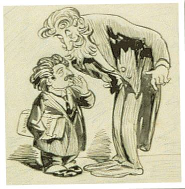 MEN FOR THE AGES ay Einie, do you really think you understand yourself?' George Bernard Shaw asks Albert Einstein in a 1921 cartoon by Oliver Herford. Einstein replies, 'No, Bernie — do you?