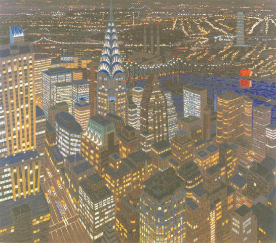 [MUSEUM OF THE CITY OF NEW YORK]Yvonne Jacquette, 'Chrysler Building Composite at Dusk' (1997).